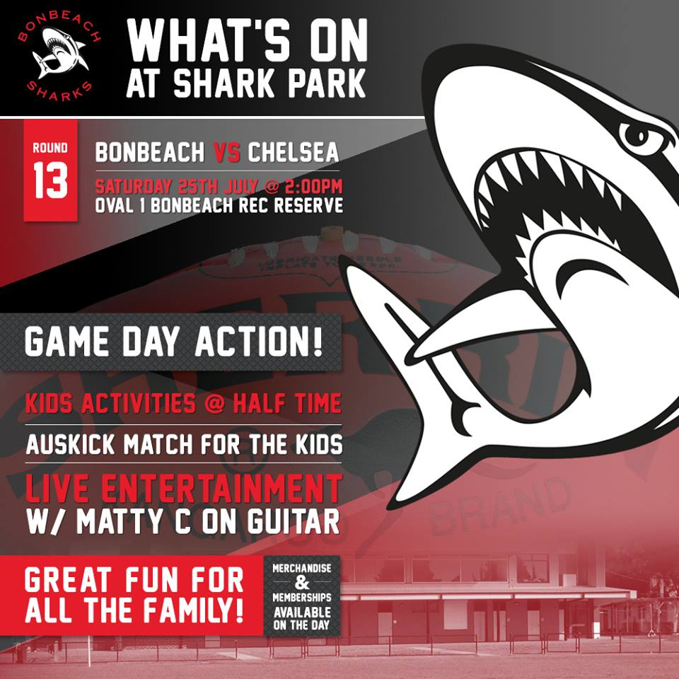 Bonbeach Sharks FNC On Twitter Home Game Bonbeachsharks Local Derby Vs Chelsea 4 Games Of Netball 3 Footy Ladies Day Go