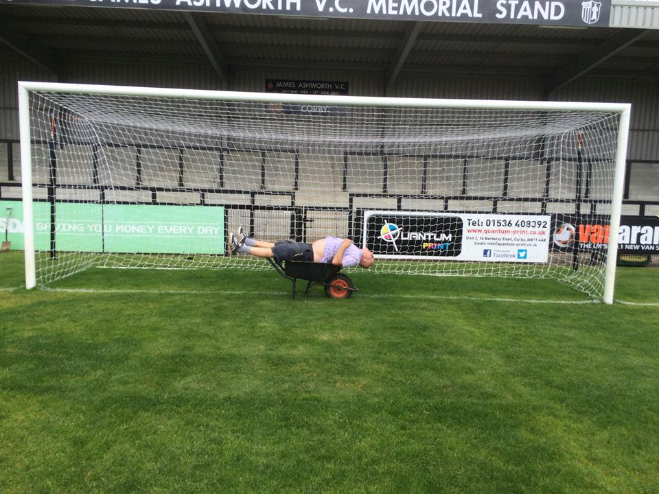 Exclusive: @corbytownfc secret weapon spotted at Steel Park in preparation for the new season. http://t.co/Dw0p3y9RFm