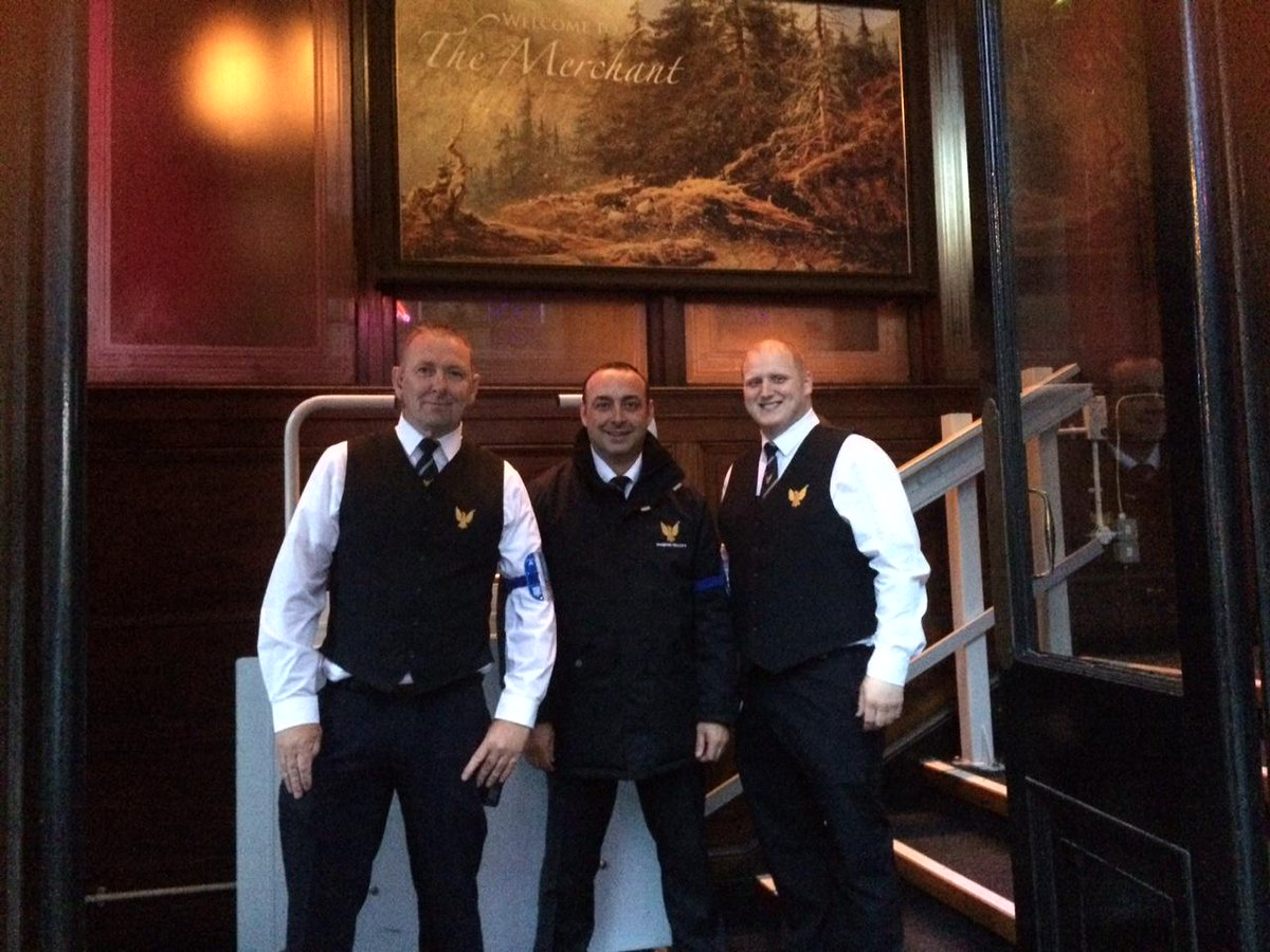 Phoenix Security on Twitter  (L-R) Head Door Supervisor Archie Thomson and Door Supervisors Tom Faichney and Stephen McKelvie @TheMerchantWGS ...  sc 1 st  Twitter & Phoenix Security on Twitter: