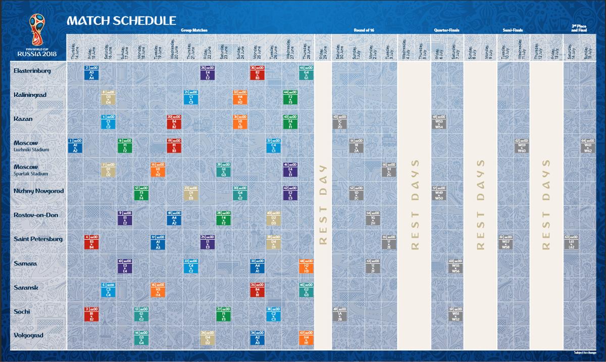 Calendario Mundial Rusia 2018.Jorge Gomez V On Twitter Foto Calendario Mundial Rusia