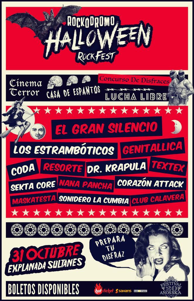 EL GRAN SILENCIO PRESENTEEEE!!! Rockodromo Halloween RockFest. Boletos en Saharis y http://t.co/Emq37nTqHr http://t.co/w4rVAVI1TR