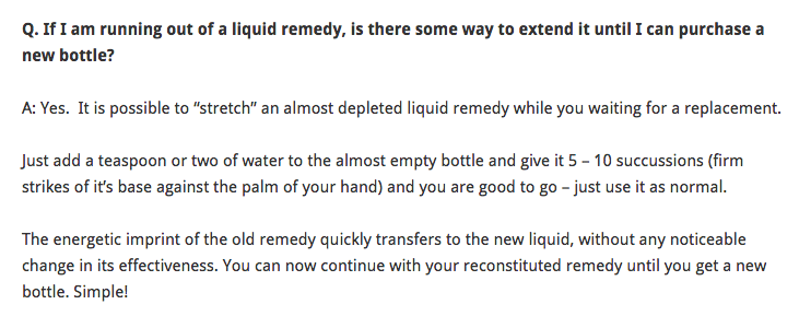 Bonkers. Then why buy a new bottle at all? #ten23 #homeopathy http://t.co/TPtHnAYL4q