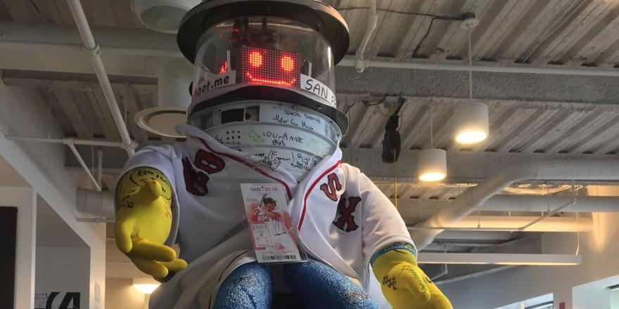 Sending @hitchBOT to @RedSox tonight to bag 1st bucket list item. Anyone down for NY after? #hitchBOTinUSA #hitchbot http://t.co/vCVCagpEYF