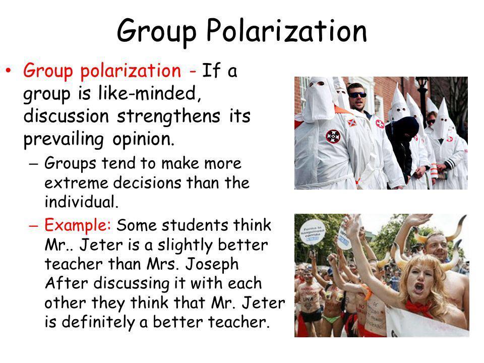 On Twitter Group Polarization