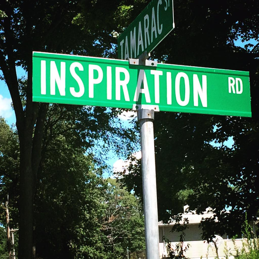 For those who want to know the road to inspiration, it's Tamarac Street.