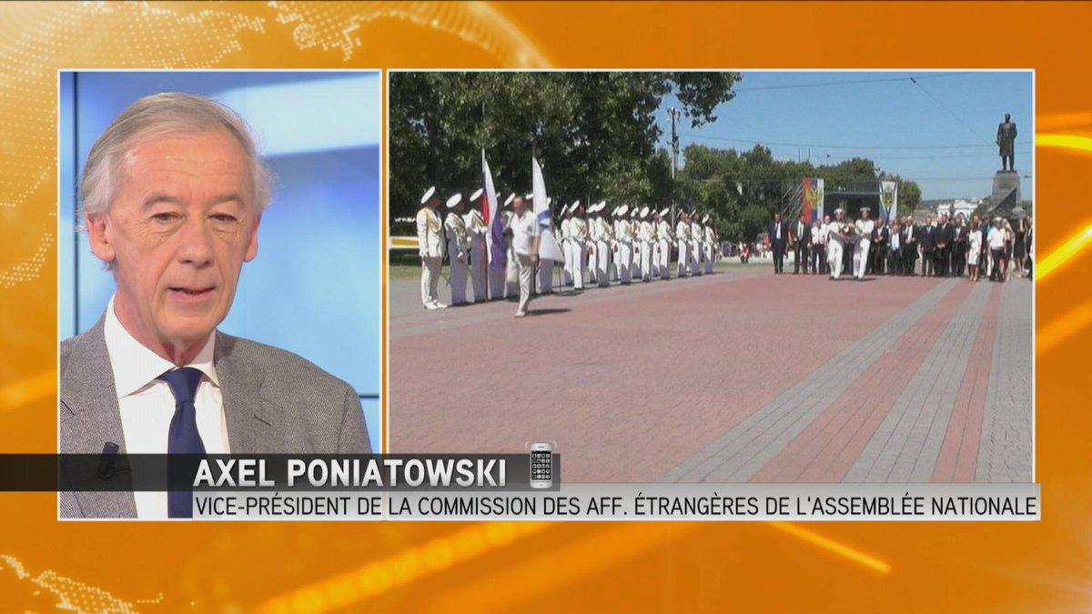 """Axel Poniatowski (LR) sur la visite de députés en #Crimée > """"Il s'agit de diplomatie parlementaire"""" http://t.co/7ghIhjQK6R"""