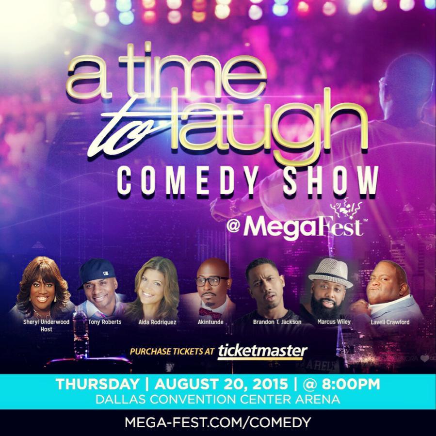 Honored to be on this! Megafest @sherylunderwood @Lavellthacomic @AKLAUGHS @brandontjackson @TonyTRoberts @FunnyAida http://t.co/NKugoSCPF3