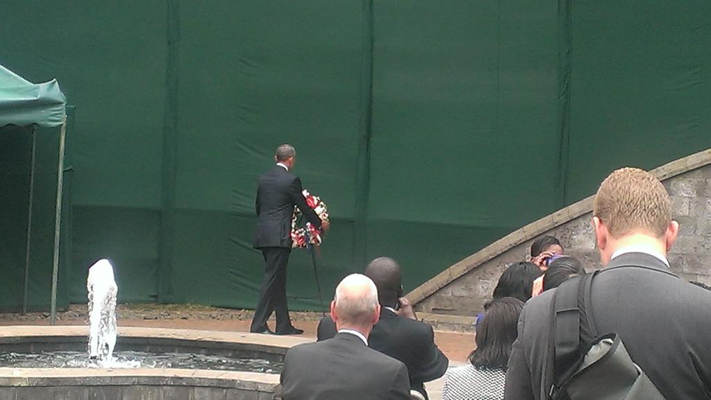 Obama at August memorial Park. http://t.co/mXnJbMPstd