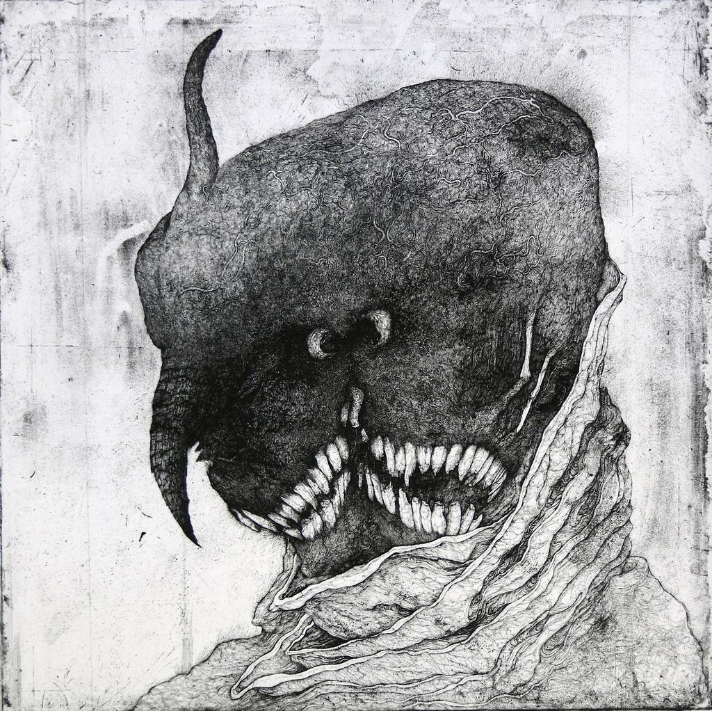 池田俊彦による作品。銅版の「腐食」と人間の「老い」を重ねています。