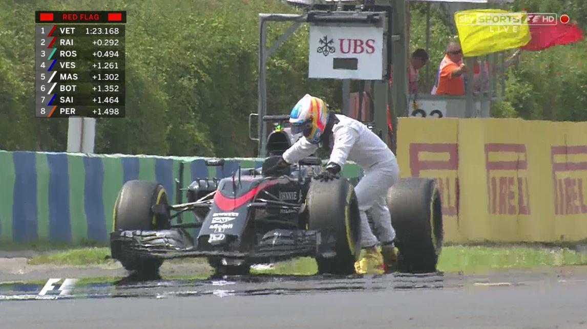 Alonso, qui visait le Top10, a poussé sa voiture pour rien! CKwprHBXAAAECvp