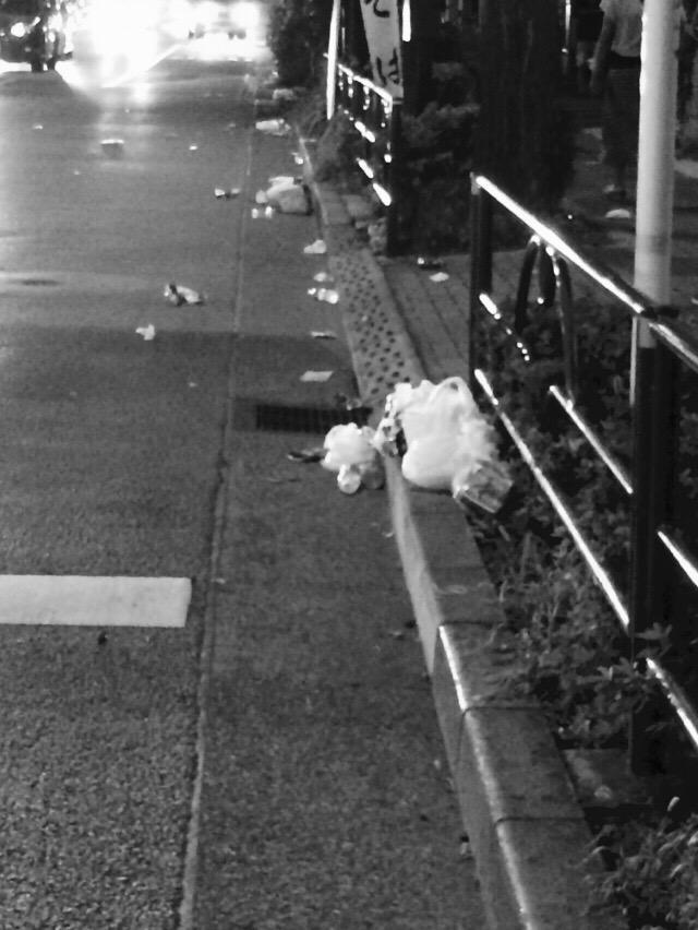 【悲報】今年も隅田川花火大会後のゴミが酷い 世界よ これがジャップの民度だ!