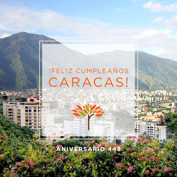 ¡Feliz cumpleaños Caracas! Ya son 448 años y te sigues viendo hermosa. #caracas448 http://t.co/E3nopwpSaj