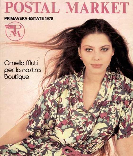 Ornela Muti in copertina Postalmarket