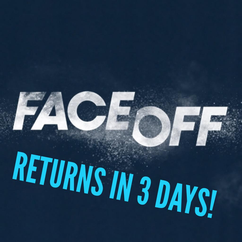 #FaceOff is back in 3 days!  Season premiere 7/28 at 9pm on @Syfy!  @FaceOffSyfy @mckenziewestmor http://t.co/6RcBRKSUcN