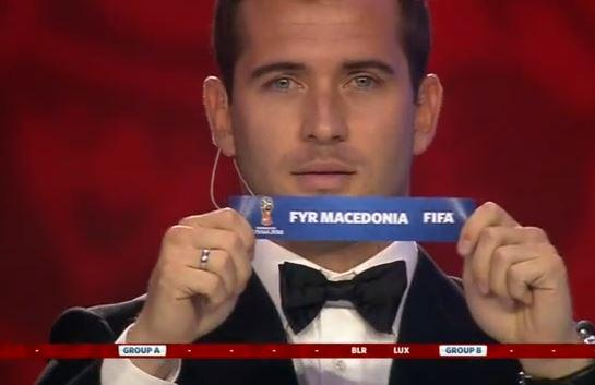 Moment Macedonia's name was drawn