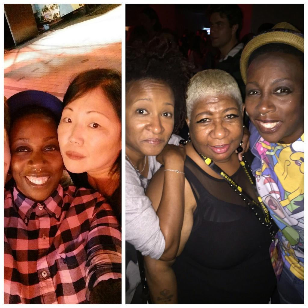 strong women comics of colour kicking this industry in the bollocks. Salute! @margaretcho  @iamwandasykes  @Luenell http://t.co/K5TSNvZDTz
