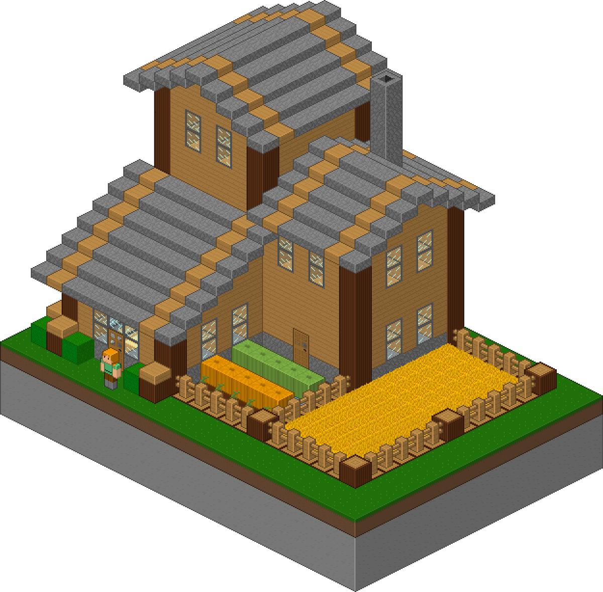 Minecraftfr على تويتر Une Maison En Pixel Art Httptco