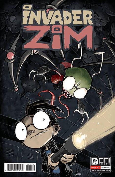 ZIM #1 2nd printing cover! They let me use my own style for this one, so I tried to make it as upsetting as possible. http://t.co/gm1HeEoF7m