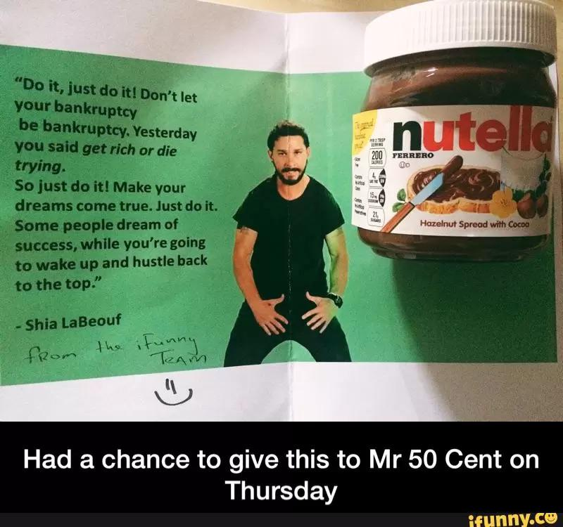 ifunny chef on twitter had a chance to give this to mr 50cent on