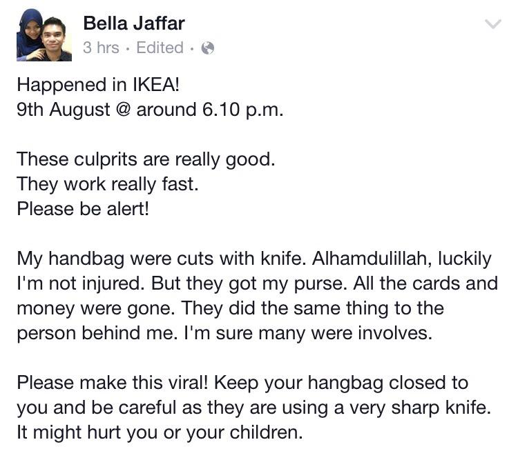 Apparently this happened in IKEA. Be careful guys. http://t.co/yntemMGGmQ