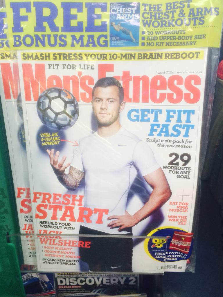 21 - After suffering the 21st injury of his career at Arsenal, Jack Wilshere is now the Men's Fitness cover. Irony. http://t.co/G1DmonCg2B