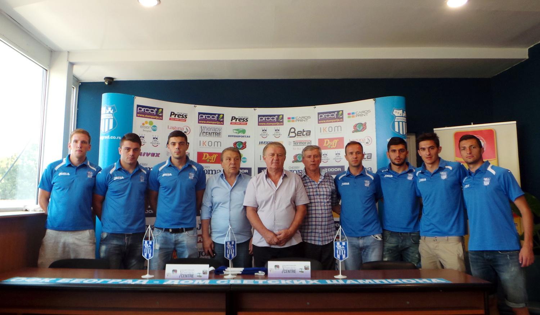 Avramovski (3rd from R); photo: OFK Beograd