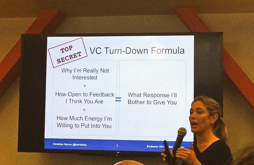 The jig is up: why VCs don't give feedback MT @endeavoreg: @christine's top 5 useless turn-downs http://t.co/bAarfBA6Io @500startups
