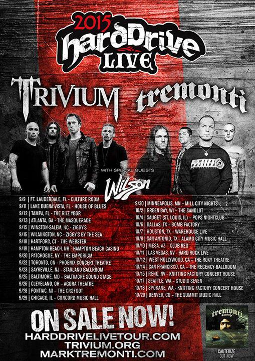 2015 Hard Drive Live Tour with Trivium and Tremonti