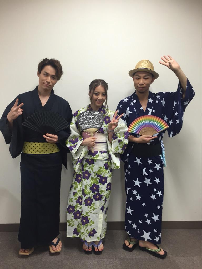 今日は大阪あべのキューズモールでリリースイベントです!夏らしく浴衣です