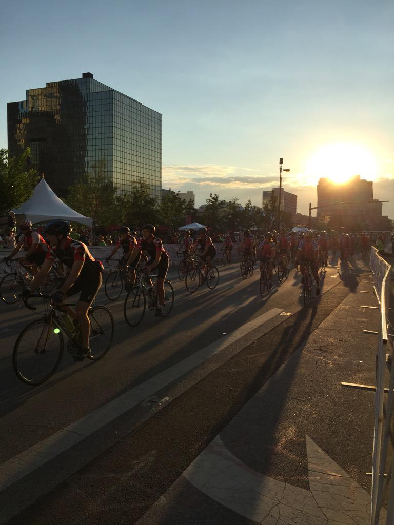 Sun coming up while cancer is going down. #EndCancer #Pelotonia15 http://t.co/W2RZpS5fVL