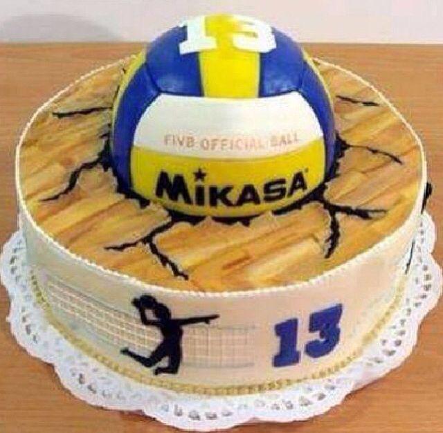 Enjoyable Pinterest Mikasa Birthday Cake Volleyball Inspired Sweets Personalised Birthday Cards Arneslily Jamesorg