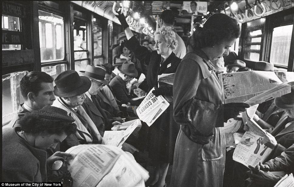 Ahh, the good ole days, when everyone socialized, wasn't on their phones, and men gave up their seats for the ladies. http://t.co/ap7iMv2RRx