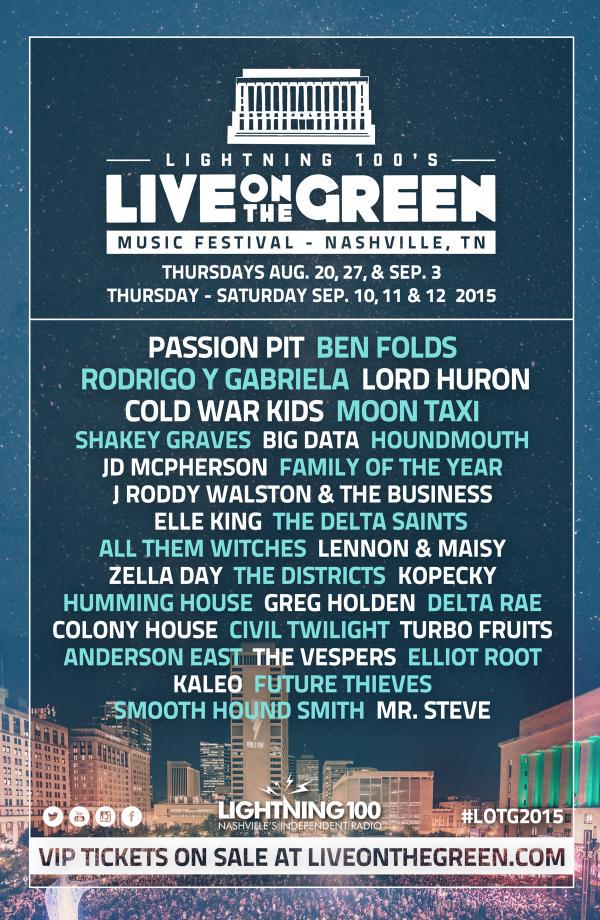 We're stoked about the additions to this year's @LiveOnTheGreen line-up! Who are we going to see there? #LOTG2015 http://t.co/7MDv03AYSz
