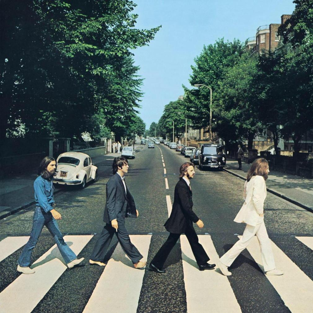 Taken Aug 8, 1969. One of only six shots taken by Iain Macmillan. Cover is the fifth. Iconic now-timeless image. http://t.co/msp0jtQ7DA