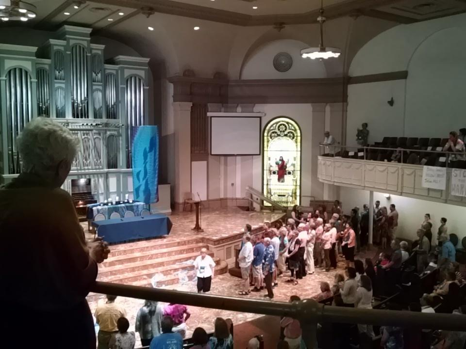 We need a fully inclusive church. -Bishop Dorff #GatherUMC @rmnetwork @MFSAVoices @RioReconciling http://t.co/H0Chti5s3W