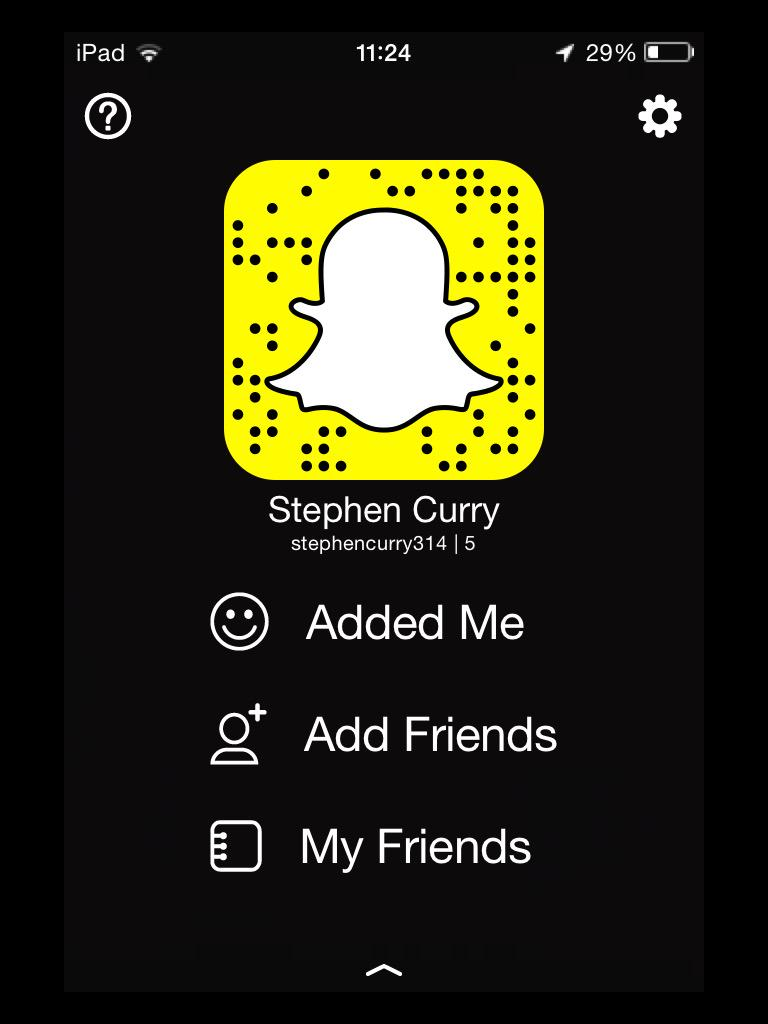 What is stephen currys snapchat