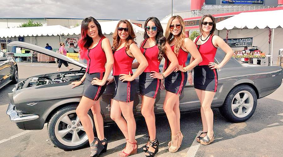 Route Casino On Twitter The Route Casino Girls At This - Route 66 classic car show