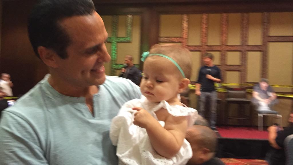 A surprise appearance by baby Avery. @MauriceBenard #GHFCW15 http://t.co/0vIGx7vjWs