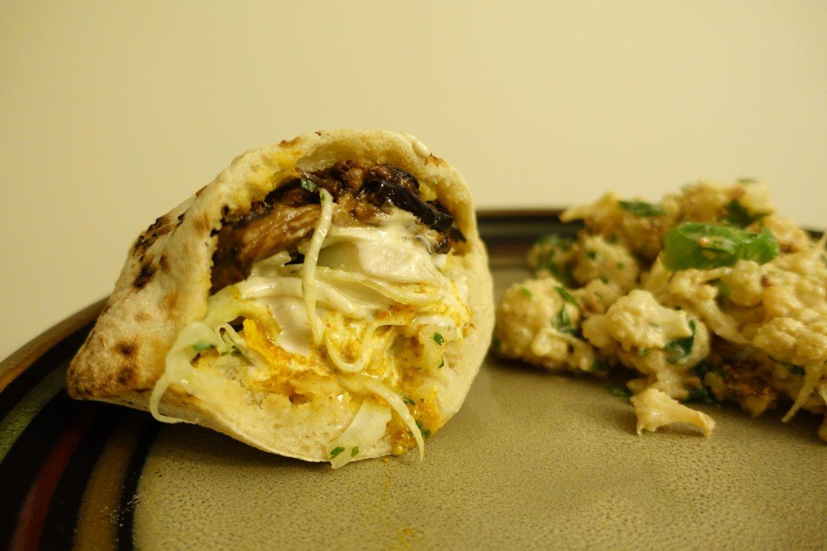 chris quartly on twitter iraqi pita and roasted cauliflower from