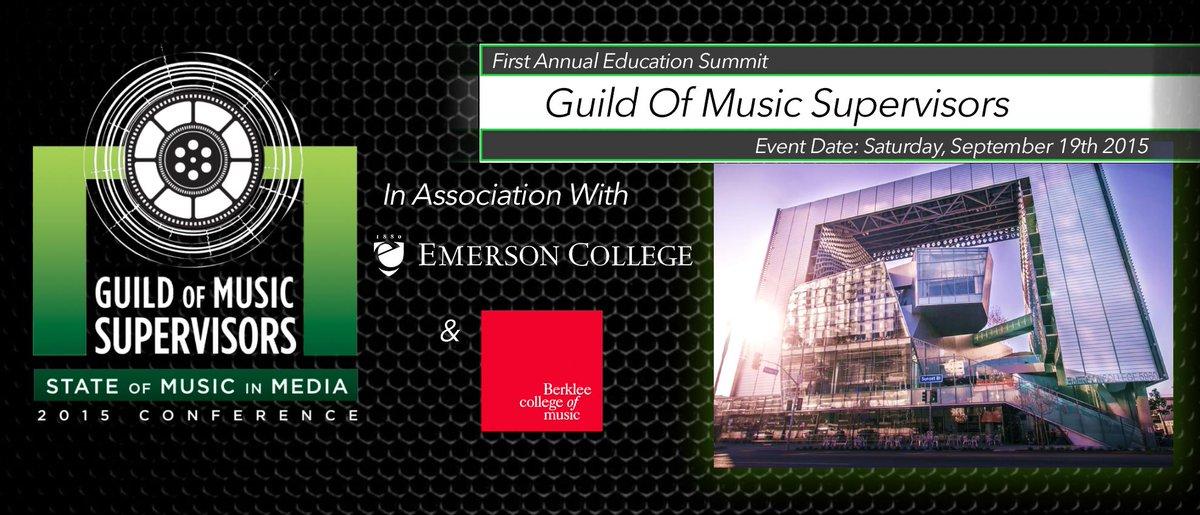 GMS STATE OF MUSIC IN MEDIA CONFERENCE - SAT SEPT 19 #EmersonLA REGISTER NOW http://t.co/eZymDhoffI #musicsupervisors http://t.co/D4zeyX3tug