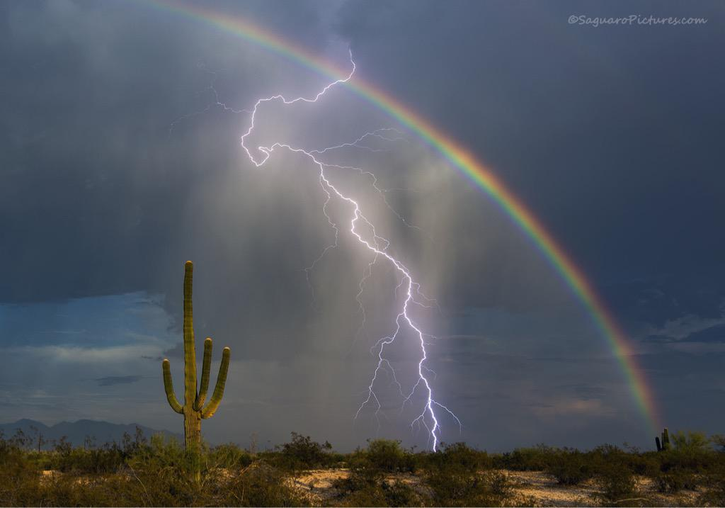 "It's a doozy!! ""@Gregtucson: This evening just before sunset, I finally got the shot I've been trying to get for yrs. http://t.co/rdDwA8mfYX"