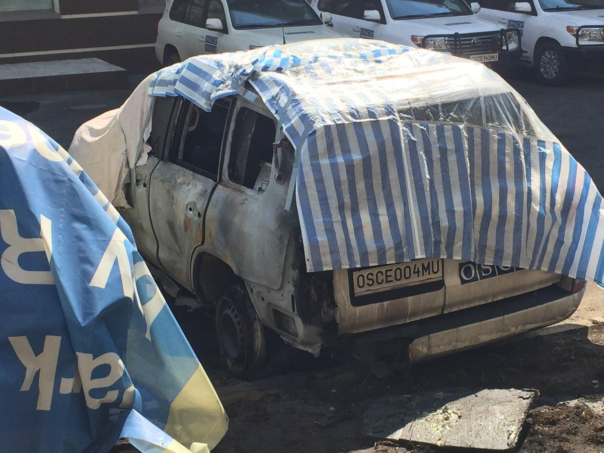 ОБСЕ о поджоге транспорта: Кто-то хочет, чтобы миссия перестала говорить о происходящем в Донецке - Цензор.НЕТ 2556