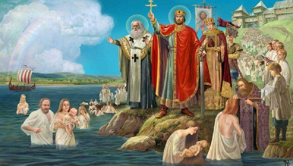 駐日ロシア連邦大使館 в Твиттере: «今日、#ウクライナ 、#ベラルーシ 、#ロシア の三国の共通の祖国とされるキエフ大公国(ルーシ)のキリスト教化の記念日です。キリスト教は国教としてウラジーミル1世によって988年に導入されました。画像via @RusEmbBul http://t.co/SaMdu0z1RI»