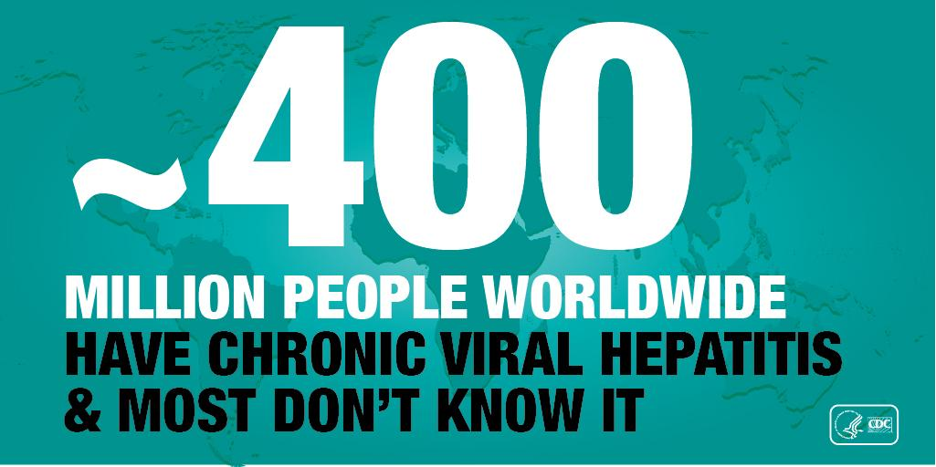 ~400M have chronic #hepatitis. For #WorldHepatitisDay find out your risk http://t.co/1VYBqUzMXG #PreventHepatitis http://t.co/46JmLJ48sf