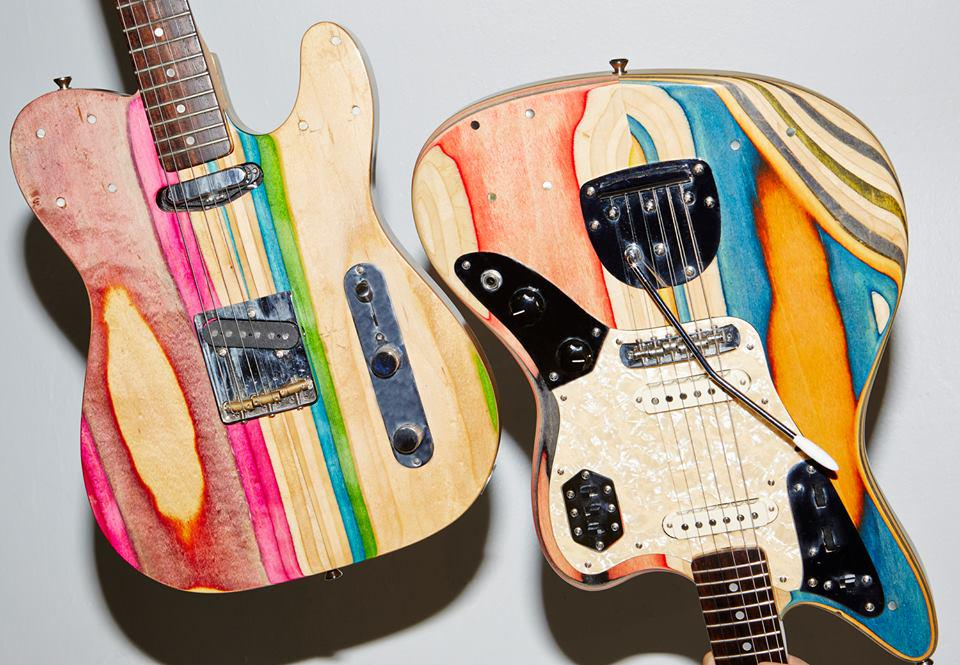 A great use of old skateboard decks is to turn them into guitars. Check out Prisma Guitars http://t.co/i5EsxYkEP0 http://t.co/BFnEixQkK5