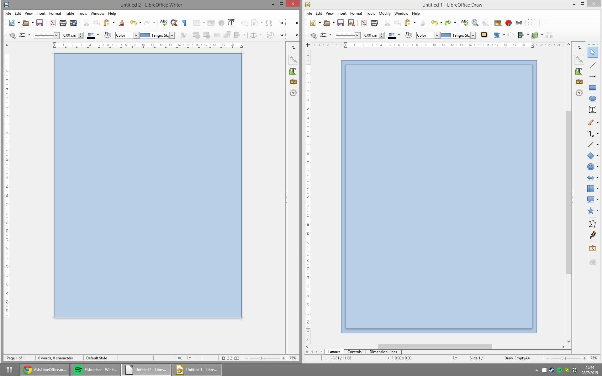 printbleed Writer vs Draw