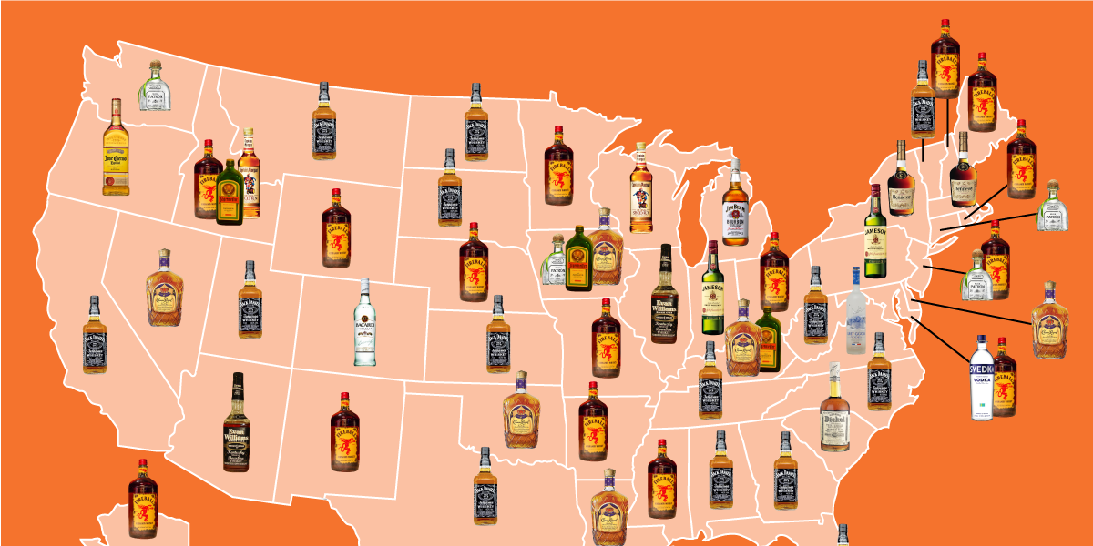 The most popular liquor in every state: http://t.co/glyLiW0sWy http://t.co/Uj4PRB6hQ0