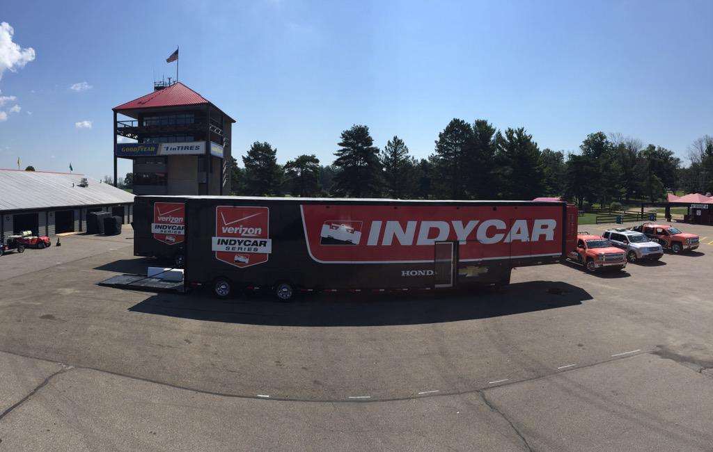 It's beginning to look like @IndyCar race week at Mid-Ohio! Who is your pick to win on Sunday?! #Honda200 http://t.co/IB4wyMna7v