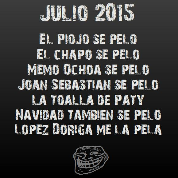 Resumiendo Julio 2015 #TrabajosParaElPiojo http://t.co/3LL9QF3xdM