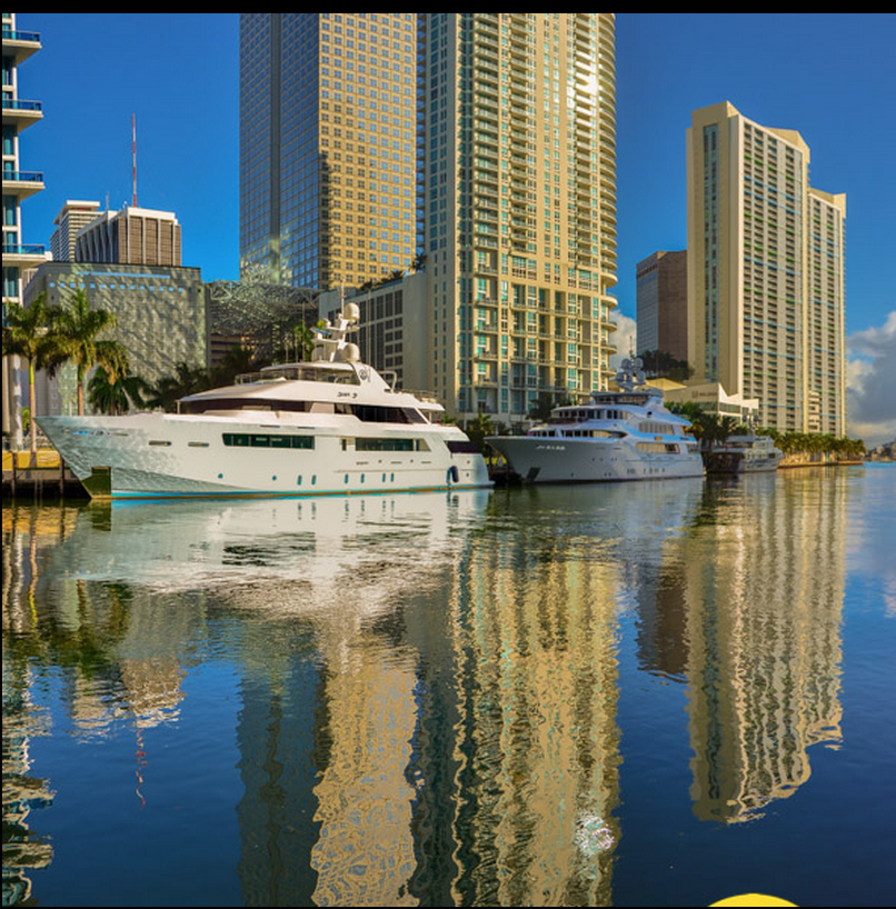 A beautiful shot of the Miami River! Photo Credit: http://www.goldenduskphotography.com/downtownmiami/miamiriverreflection…